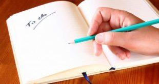 7 шагов для правильного списка дел на день