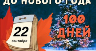 100 дней до Нового Года... снова, что ли